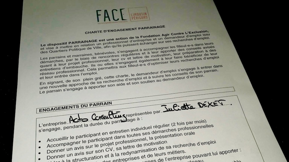 Acto Consulting s'engage avec FACE : Fondation Agir Contre l'Exclusion